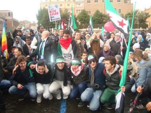 Roma, manifestazione per la Siria