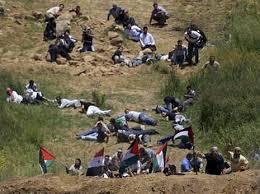 giovani palestinesi mandati direttamente nella linea di fuoco.